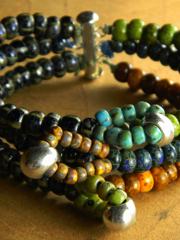 Multi-strand beaded bracelet by Gloria Ewing.