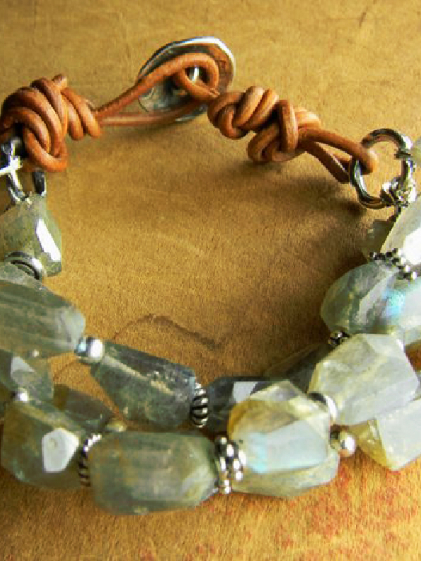 Labradorite beaded bracelet by Gloria Ewing.