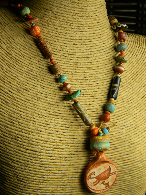 Southwestern Beaded Necklace by Gloria Ewing.