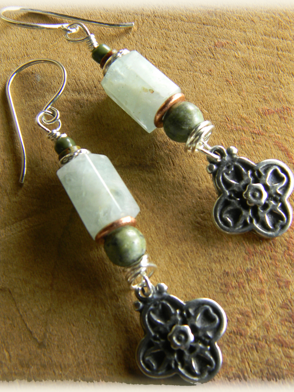 Aquamarine Earrings with Sterling Silver