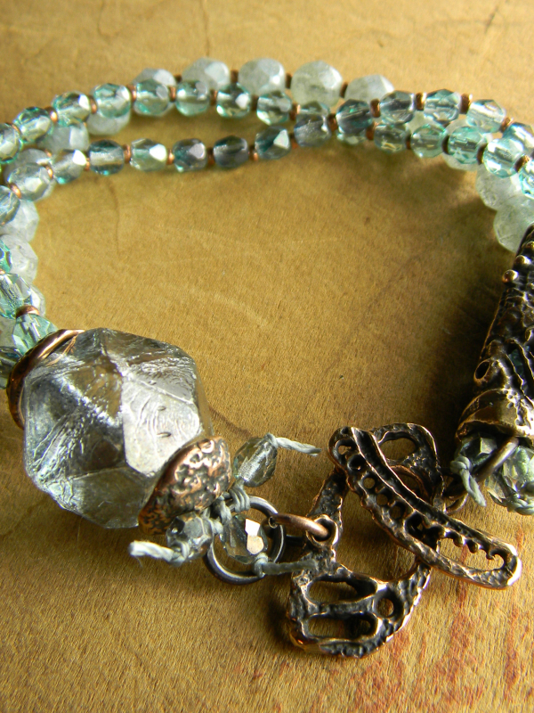 Artisan multi-strand bracelet bracelet by Gloria Ewing.
