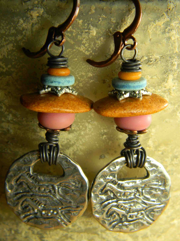 New Mexico style beaded earrings from Gloria Ewing.