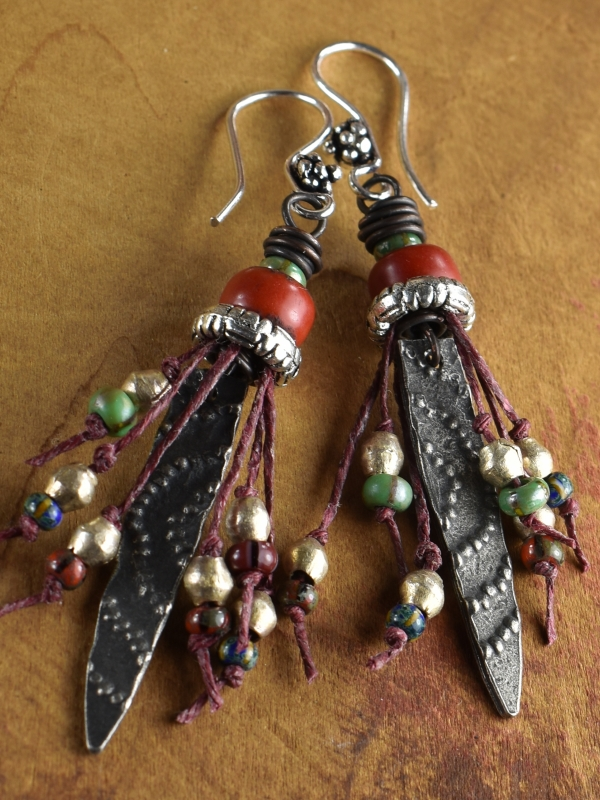 Artisan pewter and African beaded design by Gloria Ewing.