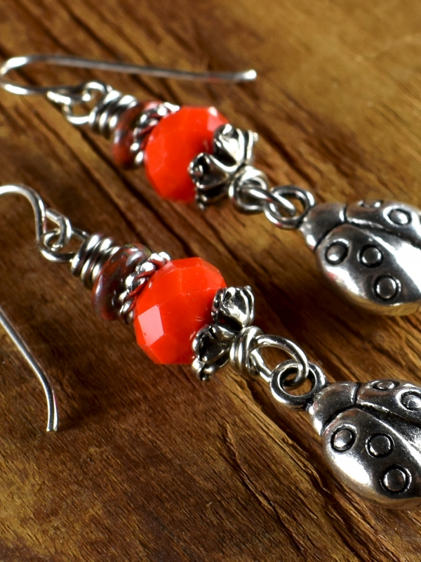Flirty and casual beaded earrings for teens from Gloria Ewing.