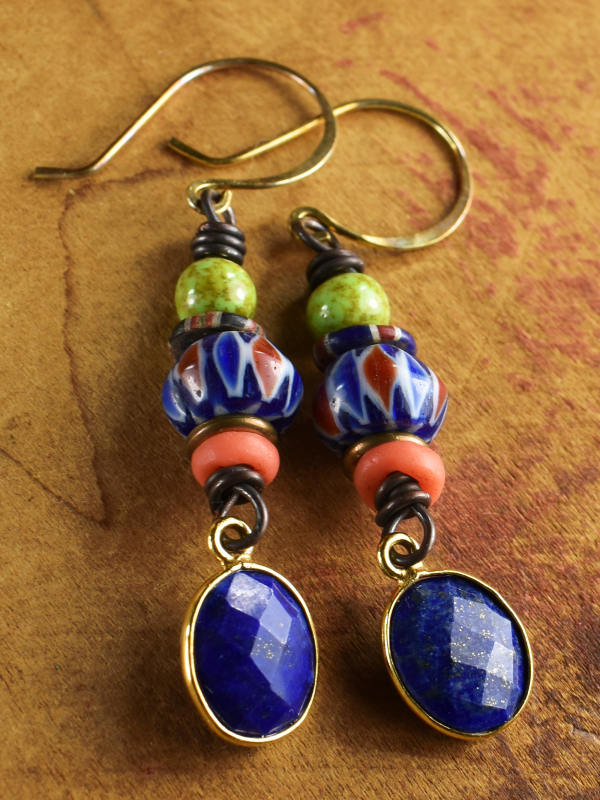 Tribal beaded earring design by Gloria Ewing.
