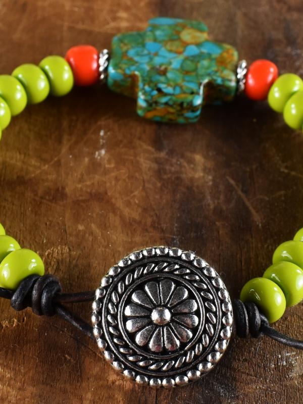 Southwestern beaded bracelet for teens by Gloria Ewing.