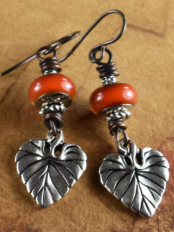Hippie era mood bead earrings by Gloria Ewing