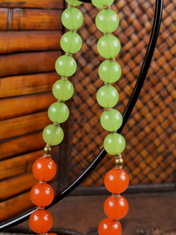 Safe and durable beaded necklace for aged 3-6 girls by Gloria Ewing.