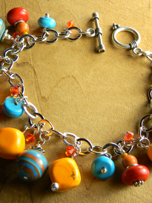 A party for your wrist with Sterling silver by Gloria Ewing.