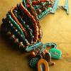Multi-strand Czech glass beaded bracelet by Gloria Ewing.