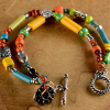 Perfect summer beaded bracelet for teens or young at heart.