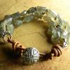 Labradorite nugget multi-strand bracelet by Gloria Ewing.