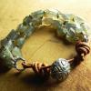 Southwestern style labradorite bracelet by Gloria Ewing.