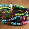 6 Strand mood bead boho style bracelet by Gloria Ewing