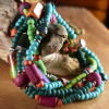 Hippie mood bead multi-strand bracelet by Gloria Ewing.