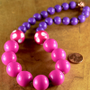 Colorful acrylic beaded necklace for toddler girls from Gloria Ewing.
