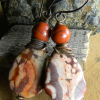 Copper wire wrapped earring design by Gloria Ewing.