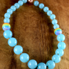 Safe resin beaded necklace with magnetic clasp by Gloria Ewing.