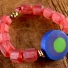 Beaded bracelet designed for little girls by Gloria Ewing.