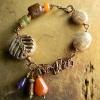 Autumn jasper and orange aventurine bracelet by Gloria Ewing.