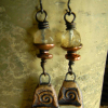 Boho bling in faceted gold rutile earrings by Gloria Ewing.