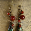 Bouncy flirty carnelian turquoise design by Gloria Ewing