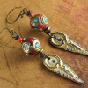 Handmade beaded tribal earrings by Gloria Ewing