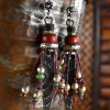 Vintage African beaded earring design by Gloria Ewing.