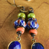 Colorful mix of trade beads with lapis by Gloria Ewing.