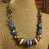 Tribal beaded choker style necklace by Gloria Ewing.