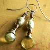 Rustic mix of bling and vintage African beads, design by Gloria Ewing.