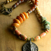 African tribal beaded necklace by Gloria Ewing.