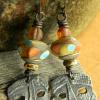 Lampwork beaded earrings by Gloria Ewing.