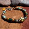 Fun mood beaded bracelet for spring by Gloria Ewing.