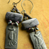 Distinctive beaded earring design by Gloria Ewing.