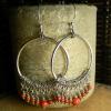 Mexican folk art beaded earring design by Gloria Ewing.
