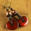 Mykonos ceramic drop earrings by Gloria Ewing.