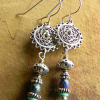 Beaded silver with Czech glass design by Gloria Ewing.