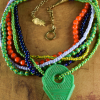 African statement necklace by Gloria Ewing.