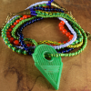 Multi-color multi-strand tribal necklace by Gloria Ewing.