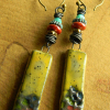 Colorful beaded earrings by Gloria Ewing.