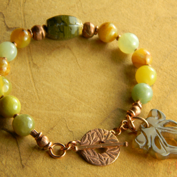 Jade and copper in a gorgeous design by Gloria Ewing.