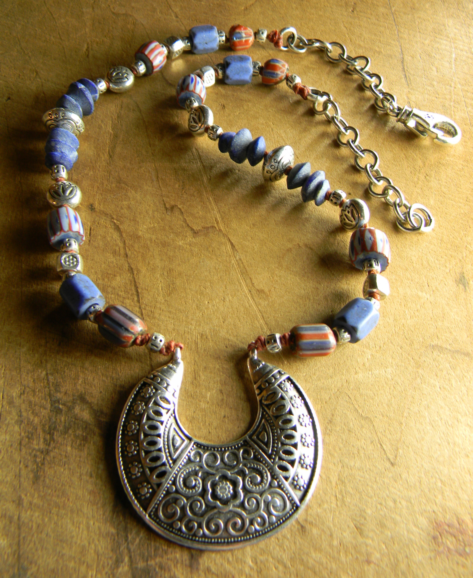 from coins necklace antique trade beads silver elegant guatemala chachal guatemalan bead mexican vintage jewelry