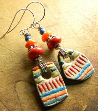 Artisan Ceramic Drop Earrings