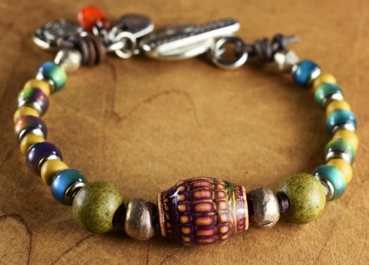 Basket Weave Mood Bracelet