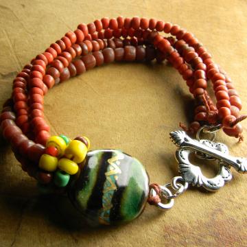 Sacred Heart Toggle Bracelet