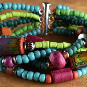 Multi-Strand Mood Bead Bracelet