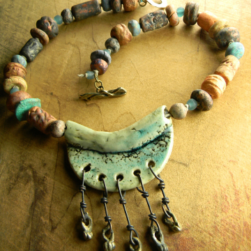 Artisan Ceramic Choker Necklace