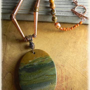Ocean Jasper Southwestern Choker Necklace