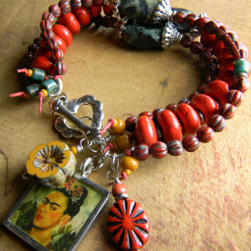 Tejana Bracelet with Frida Charm